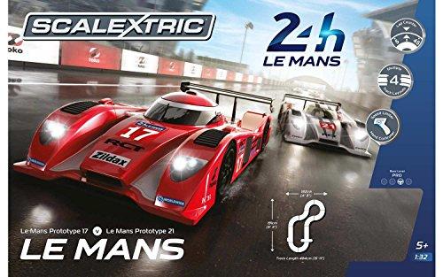 Scalextric Le Mans 24hr 132 Slot Car Race Track C1368T