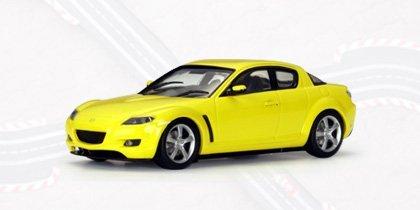 Mazda RX-8 with Lighting Lamps Lighting Yellow Slot Racing - AUTOart Diecast Models