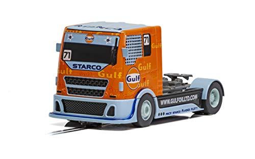 Scalextric Gulf Racing Truck 1 32 Slot Race Car C4089