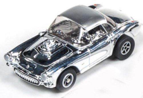 Auto World 272 1957 Chevy Corvette Chrome Xtraction Ultra G HO Slot Car