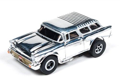 Auto World 272 1957 Chevy Nomad Chrome Xtraction Ultra G HO Slot Car