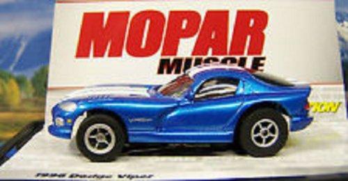 Auto World 276 1996 Dodge Viper Blue Mopar Muscle X-traction Ultra-G HO Slot Car
