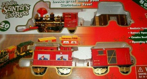 Jumbo Santas Express Christmas Train Set of 20 Pieces w Sound Smoke