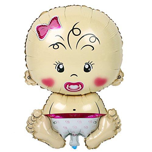 Soledi Pink Helium_Balloons Baby Girl Shower Bath Foil Balloon Christening Wedding Kids Birthday Party Toys Decoration Decor