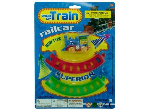 Wind-Up Toy Train with Track Set Kids Children
