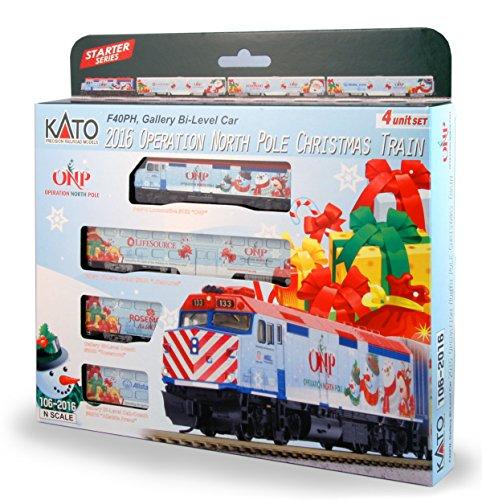 Kato USA Model Train Products N 2016 Operation North Pole Christmas Train Locomotive Cars