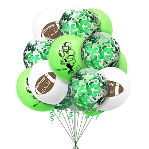 Amosfun 20pcs Football Birthday Balloons Football Themed Happy Birthday Balloons Decorations Sports Theme Party Supplies