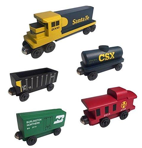 Whittle Shortline Railroad - Manufacturer Yellowbonnet Railway GP-38 Diesel 5pc Set - Wooden Toy Train