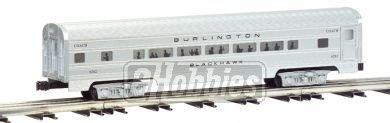 Williams by Bachmann Burlington Aluminum Luxury Liner Passenger 4 Car Train Set 60