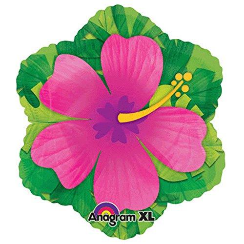 15 Inch Pink Hibiscus Shape Balloon