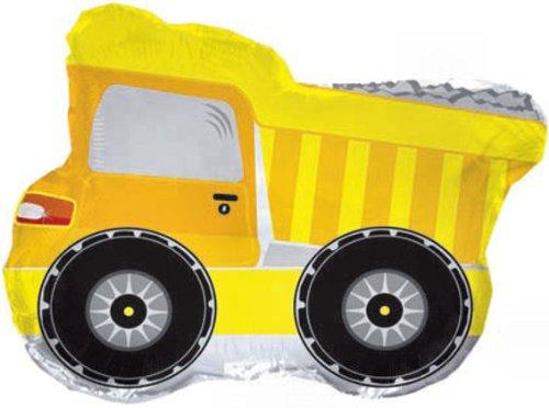 22 Yellow Dump Truck Shape Balloon