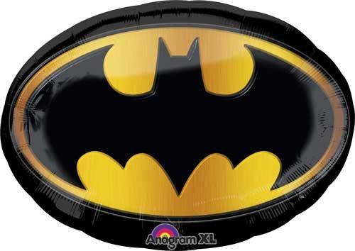 27 Batman Emblem Shape Balloon - Pack of 5