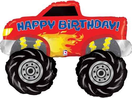 40 Birthday Monster Truck Shape Balloon