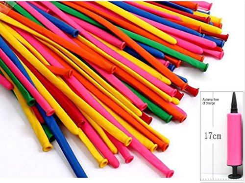 kings store300 PCS rainbow colored balloons strip shape balloon magic balloon animals sent free of charge pump