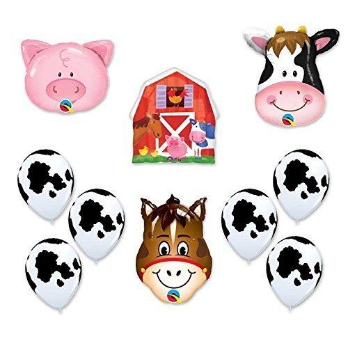 Barn Farm Animals Birthday Party Cow Horse Pig Barn Balloons Decorations Supplies