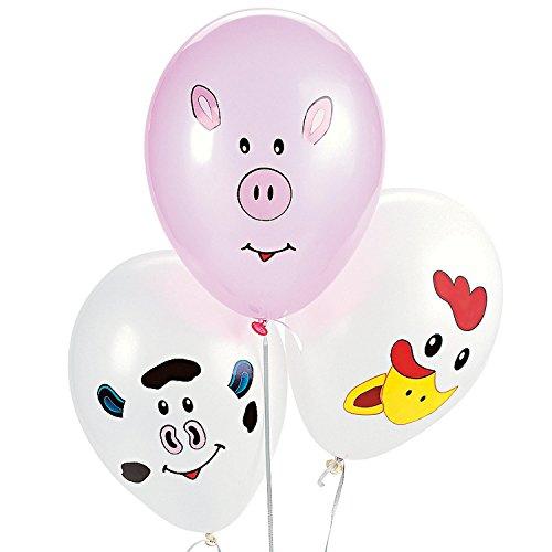 Make your Own Farm Animal Balloons 1 dz