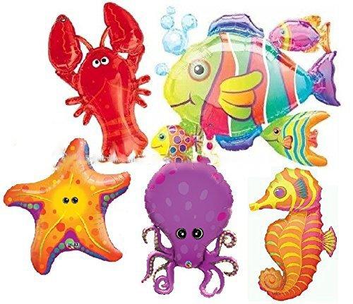 SEA ANIMALS BALLOONS SEA BIRTHDAY PARTY UNDER THE SEA CREATURES BALLOONS DECORATIONS