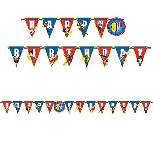 DC Superhero Girls Birthday Custom Age Banner - 10 feet Birthday Party Supplies