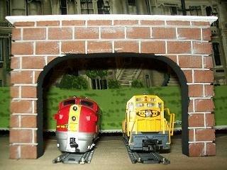 Model Railroad HO Gauge DOUBLE Tunnel Portal - Set of 2
