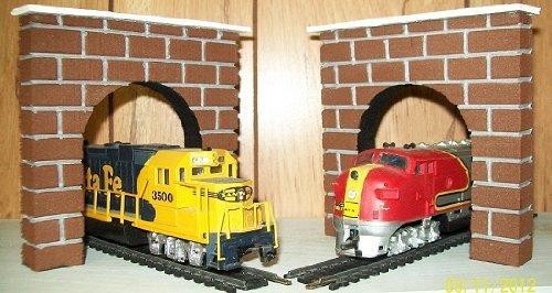Model Railroad HO Gauge Tunnel Portal - Set of 2 by Dechants Railroad Express