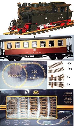 NEWQIDA TOYS FACTORY Hsb Railway Basic Passenger Train Set G Scale Battery Operated