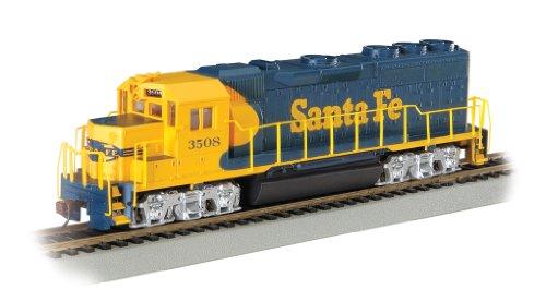 Bachmann Industries EMD GP40 DCC Equipped Locomotive Santa Fe 3508 HO Scale Train Car BlueYellow