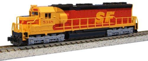 Kato USA Model Train Products EMD SD45 SPSF 5348 Kodachrome N Scale Train