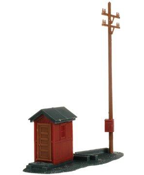 Atlas HO Scale Model Railroad Building Kit Telephone Shanty Pole