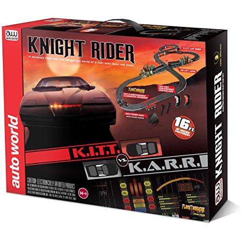 Auto World KITT vs KARR World 16 Knight Rider Slot Car Race Set