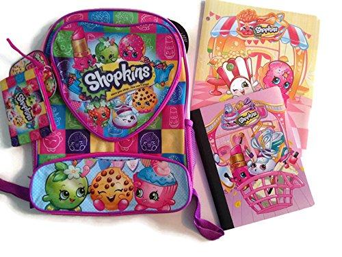 Fun Shopkins Backpack School Supplies Set