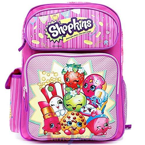 Shopkins Large School Backpack 16 Girls Book Bag