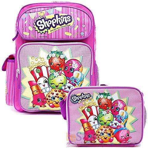 Shopkins School Backpack Set 16 Large Backpack with Lunch Bag