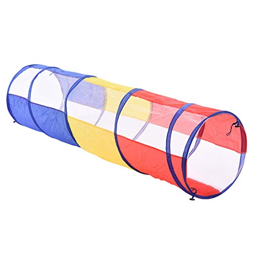 Fullyday Imported 6FT Entertainment Adventure Play Tunnel for Kids with Foldable Tube Ideal Indoor Outdoor Pop-Up Play Toy for Babies and Toddlers Shipped from East Coast