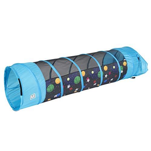 Pacific Play Tents 41410 Kids Galaxy 6 Foot Crawl Tunnel wGlow in the Dark Stars