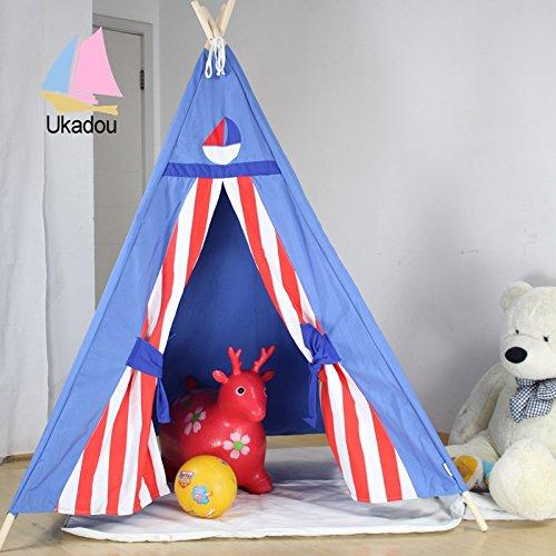 Hot sale breathable kid play teepee tent width window