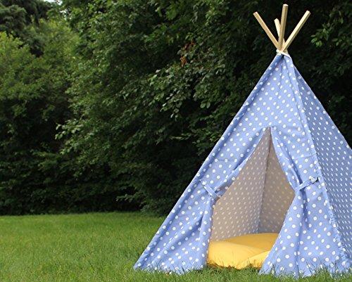 Purple Polka Dot Kids Teepee Play Tent Play Tee Pee Heavy Fabric Playhouse