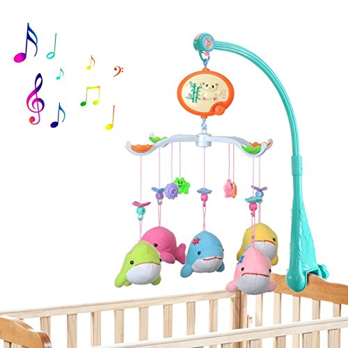 Baby Crib Toy Mobile Bed Bell Toy Holder Arm Bracket  Bed Bell With Music Box Toys Allows To Rotate 360 Degree