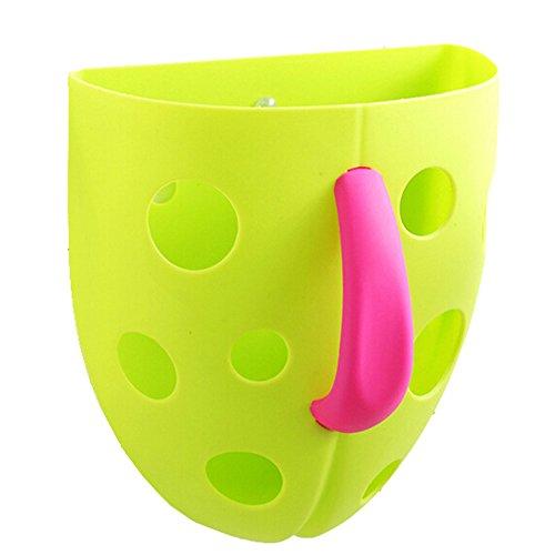 Bath Toy Organizer Storage Bin Baby Toys Bathroom Bag Kids Net Super Scoop Tub with Magic Cube green