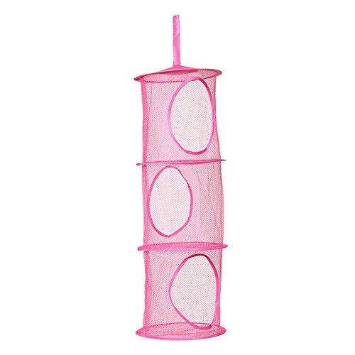 LS4G Arrival 3 Shelf Hanging Storage Net Kids Toy Organizer Bag Bedroom Wall Door Closet Storage Bag -All U Need