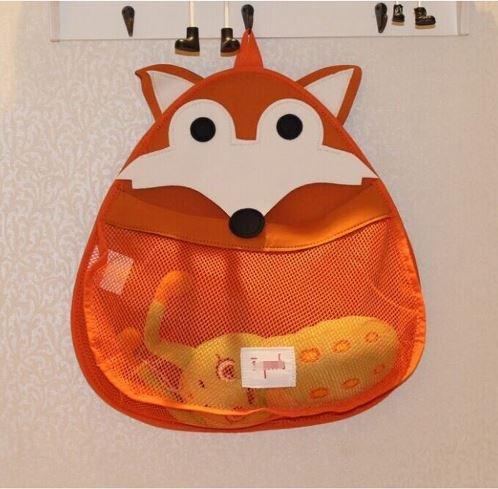 Premium Quality Fox Bath Toy Organizer storage bag with Powerful Suction CupsKids Toy Organizer storage bagNursery OrganizerLong Lasting All Purpose Storage bag with Powerful Suction Cups