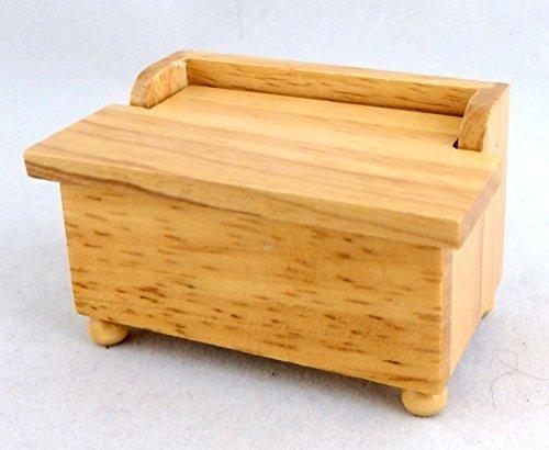 Melody Jane Dolls Houses House Miniature 112 Nursery Furniture Light Oak Toy Box Chest Ottoman