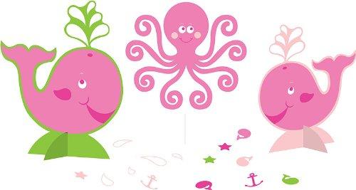 Creative Converting Ocean Preppy Girls Centerpiece