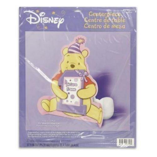 Winnie the Pooh Girls 1st Birthday Photo Holder Centerpiece 1ct