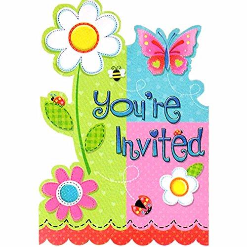 Garden Girl Invitations w Env 8ct