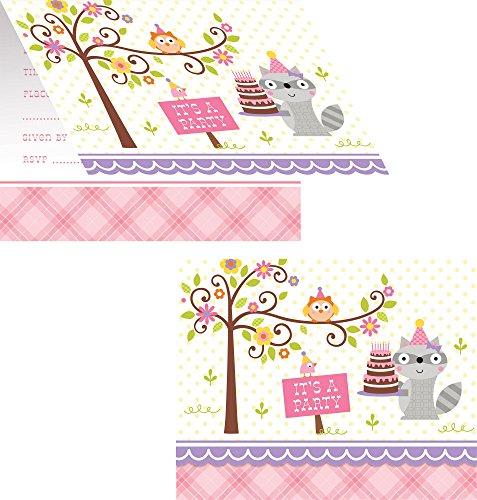 Happi Woodland Girl Invitations 8