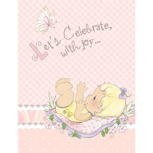 Precious Moments Baby Girl Invitations Party Accessory by Hallmark