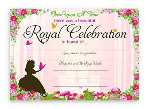 POP parties Princess Fairy Tale Party Invitations - 10 Invitations  10 Envelopes
