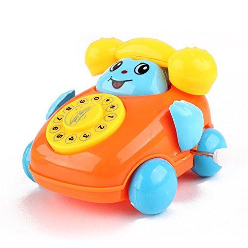 Fdrone  Educational Toys Cartoon Smile Phone Car Developmental Kids Toy Gift Black