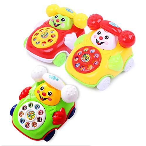 HongG unexceptionable New Baby Toys Music Cartoon Phone Educational Developmental Kids Toy Gift Infant Newborn Music Phone Toy RandomNone Color Random