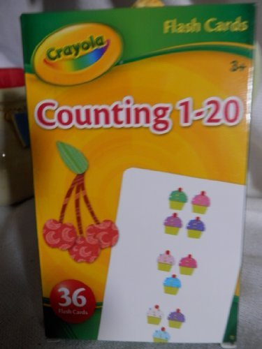 Crayola Counting 1-20 Flash Cards Set of 36 Flash Cards
